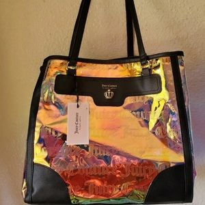 Juicy couture tote bag iridescent or holographic